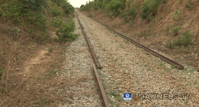 A snapshot of what was left of rail tracks in Mada station in Nasarawa state after vandalisation activities between February and June 2021.